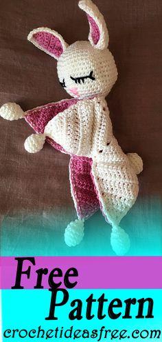 Сoniglietto dou dou Free Crochet Pattern – CrochetIdeasFree Free crochet pattern crochetideasfree.com #crochet,#free,#patterns,#freepattern,#diy,#crafts,#knitting,#freepatterncrochet,#freepattern,#freecrochet,#freecrafts,#patterncrochet,#diycrochet,#craftscrochet,#patternknitting Crochet Bebe, Baby Girl Crochet, Cute Crochet, Crochet For Kids, Vintage Crochet, Crochet Crafts, Crochet Lovey Free Pattern, Crochet Patterns Amigurumi, Crochet Dolls