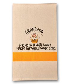 Look at this 'Grandma' Dish Towel on #zulily today!