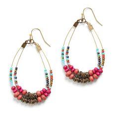 Stitch Fix Summer Accessories | Ahmad Mixed Bead Earrings