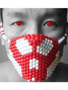 Red Skull Kandi Mask