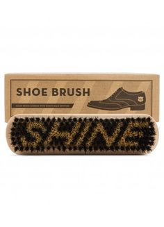 MEN'S SOCIETY SHOE BRUSH Wood and Bristle Shine