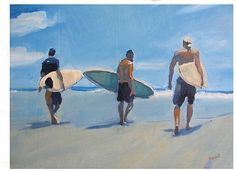 Showcase of surf art by surf artist David Bogart on Club Of The Waves Painting People, Figure Painting, Painting & Drawing, Art Vampire, Vampire Knight, Art Surf, Tumblr Drawings, Wave Art, Coastal Art