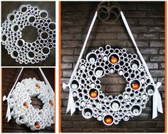 Holes Easy to Make Wreaths Ideas ~ http://www.lookmyhomes.com/easy-to-make-wreaths/