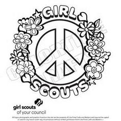 world thinking day colouring page | guiding- younger girls ... - Girl Scout Camping Coloring Pages