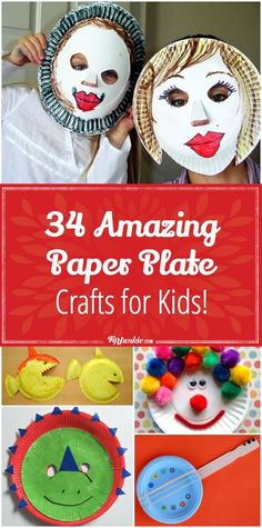 34 Amazing Paper Plate Crafts for Kids! via @TipJunkie
