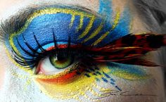 The Egyptian Parrot by PixieCold....lots of other really cool eye makeups here