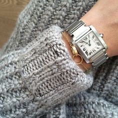 Chunky Sweater & Cartier Love