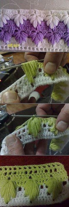 Crochet Puff Braid Manta Entrelac patrones libres - manta de bloques ...