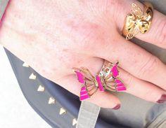 #bijoux #necklace #colors  #butterflies  #RING @ipstyle