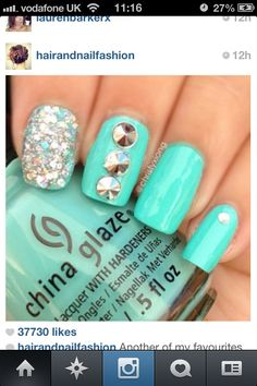 Really want these nails #bluenails #aqua #nail #vanish #pretty #girlie