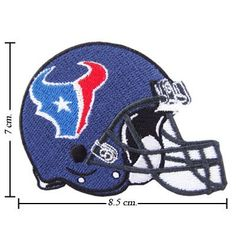 Houston Texans Helmet Logo Embroidered Iron Patches by NFL. $1.98. 100% Customer Satisfaction Guarantee. SUPER High Quality Embroidery Cloth. Recommend for the permanent seal items should be sewn with cloth or source product.. NFL0019-1. You are seeing Iron-on patch, Ideal for adorning and these patches can be either ironed on or sewn your jeans, bags, jackets and shirts. Get yours today! by BaBaLy Patches. Check upstairs for picture.