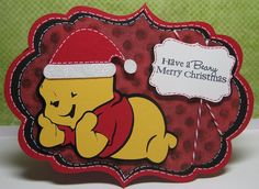 Pooh Christmas Card using Art Philosophy and Pooh Font cartridges