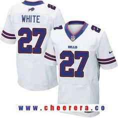 dd5e2cfdf Men s 2017 NFL Draft Buffalo Bills  27 Tre Davious White White Road  Stitched NFL