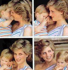 Prince Harry and Princess Diana (so, so sweet!)