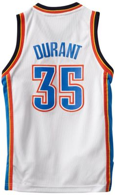 Medium Amazon.com: NBA Oklahoma City Thunder Kevin Durant Youth 8-20 Swingman Home Jersey, Large, White: Sports & Outdoors
