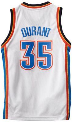 Medium Amazon.com: NBA Oklahoma City Thunder Kevin Durant Youth 8-20 Swingman Home Jersey, Large, White: Sports & Outdoors