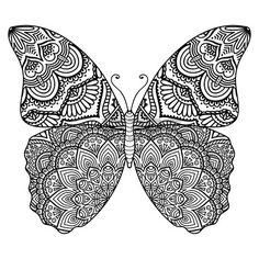 Ornamento tarjeta hermosa con la mariposa Elemento geom trico hecho en vector Foto de archivo