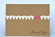 Wedding Thank You Cards With Hearts by SheLovesPaper on Etsy, $8.00