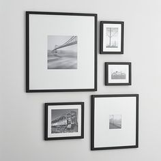 Free Shipping. Shop 5-Piece Matte Black Picture Frame Set. Classic black wood and white mat picture frames put the focus on treasured photos with a clean look that works anywhere.