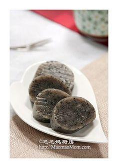 【Black Sesame Sticky Rice Cake】