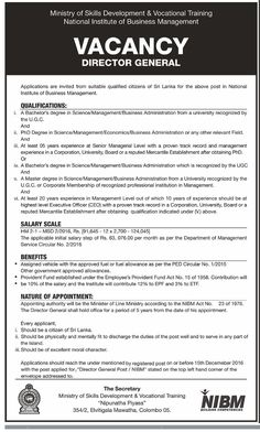 Sri Lankan Government Job Vacancies At Ministry Of Upcountry New