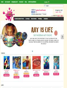 ArtzitOnline Web page