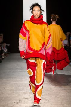 ap-fashionmemories: Runway -Kate Brittain-... - beautiful knitting
