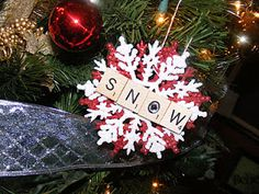 The Taylor House: Scrabble Tile Ornaments