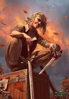 View an image titled 'Angouleme Art' in our Gwent: The Witcher Card Game art gallery featuring official character designs, concept art, and promo pictures. Foto Fantasy, 3d Fantasy, Fantasy Kunst, Fantasy Artwork, Fantasy Art Warrior, Fantasy Character Design, Character Design Inspiration, Character Concept, Character Art