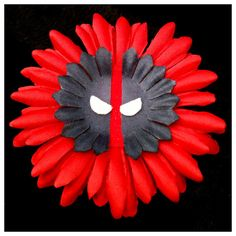 Deadpool Hair Flower Daisy Marvel Comic Accessory, Geek Chic Comicon Clip, Costume Cosplay Lolita Cute SDCC