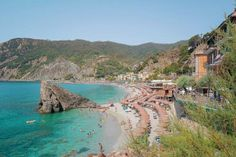 World (and Instagram) famous Monterosso, Cinque Terre, Italy #VisitingItaly