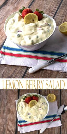 Berry Salad. Lemon Berry Pudding is a delicious dessert salad recipe that is full of good for you berries and sweet berries. Looking for a side dish to bring to a barbecue this summer? Bring this perfect summer side dish recipe.