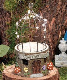 Look what I found on #zulily! Lighted Fairy Rest Nest Figurine #zulilyfinds