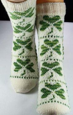 shamrock socks pattern by Christina Rowell Fair Isle Knitting, Knitting Socks, Knitting Projects, Crochet Projects, Toe Up Socks, Knitting Patterns, Crochet Patterns, Knit Picks, Knitting Accessories