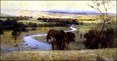 They were golden summers in the late 1800s and the young artists who became known as the Heidelberg School were feeling their creative power for the first time. The Yarra Valley had become the cradle for a new way of seeing Australia.  Arthur Streeton's 'Still Glides the Stream and Shall Forever Glide' shows the Yarra river at Eaglemont Victoria. This painting launched his career. He became credited with teaching Australians how to see their country  untrammelled by the conventions of…