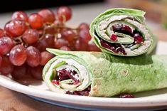 Turkey Wrap Sandwich Recipe with Dried Cranberries