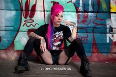 Miss pinky boo - modeling rabid apparel - #rabid #street wear #model #hair