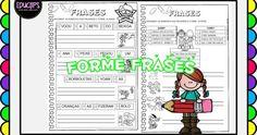Atividades de alfabetização!! Direitos reservados somente para  impressão e compartilhamento de links! Bingo, Reading Levels, Word Reading, Literacy Activities, School Routines, Index Cards, Classroom, Hilarious