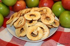 apple rings from the dehydrator