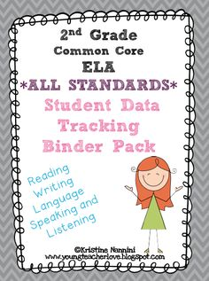 Students track their own data and learning in this easy to use student data tracking binder!