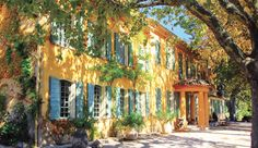 Domaine de la Baume, opened by the Martha Stewart of France, is located near Provence's pretty village of Tourtour.