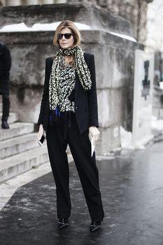 Street style en la alta costura de Paris primavera verano 2013: Virginie Mouzat