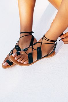 Buy Aura Wrap Flat - Black Online - Shoes - Women's Clothing & Fashion - SABO SKIRT