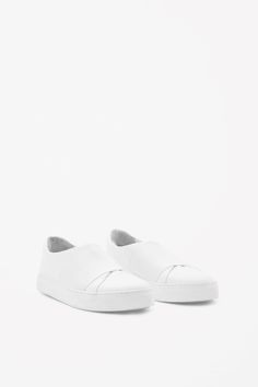 COS Wrap-over leather sneaker