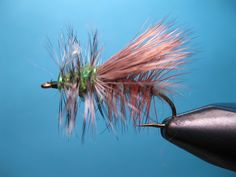 """McKenzie Special Caddis, This high floating """"Stimulator Style"""" Caddis pattern works very well late April through June when the McKenzie Green Caddis emergence is in play on the McKenzie and Willamette Rivers."""