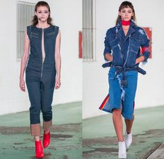 CHATTY 2017 Spring Summer Womens Runway Catwalk Looks - Mercedes-Benz PragueFashionWeek MBPFW Czech Republic - Denim Jeans Onesie Jumpsuit Coveralls Zipper Asymmetrical Closure Patchwork Kimono Vest Waistcoat Pants Trousers Skirt Frock Tuxedo Stripe Flare Bell Bottom Wide Leg Sweater Jumper Layers Knit Wrap Oversized Outerwear Coat PVC Pleather Straps Hanging Sleeve Racecar Sweatshirt Hoodie Jogger Sweatpants Snap Buttons Tearaway Cutout Shoulders
