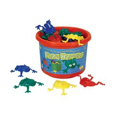 Frog Hoppers Game by Viking Toys. Helps with hand strength needed for writing later on. My boys and I love to play a game with these - who can get all of their colored frogs into the bucket. Good times will building skills. Preschool Birthday, Frog Birthday Party, Birthday Parties, Kid Parties, Birthday Games, 4th Birthday, Birthday Ideas, Frog Games, Vikings Game