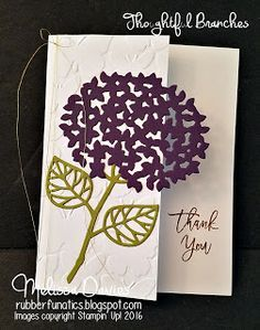 Stampin' Up! Thoughtful Branches by Melissa Davies @rubberfunatics #rubberfunatics #stampinup