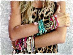 Novas pulseiras super coloridas para o Verão!