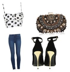 """""""Untitled #21"""" by crazygirl23432 on Polyvore featuring Paige Denim, Balmain and Lipsy"""